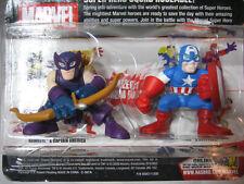 Marvel Super Hero Squad WAVE 1 Captain America,Hawkeye figure 2 pcs lot loose
