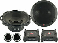"ROCKFORD FOSGATE T1650S 6.5"" POWER  2-WAY CAR COMPONENT SYSTEM SPEAKERS NEW"