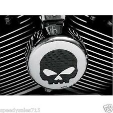 Harley Davidson Black/Chrome Skull Horn Cover Motorcycle New Free Shipping USA