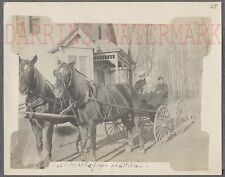 Vintage 1900s Photo Family & Horse Buggy Cart in La Crosse Wisconsin 741730