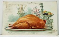Thanksgiving Turkey Dinner Table RJ Wealthy 1907 Dubuque Tuck Postcard J7