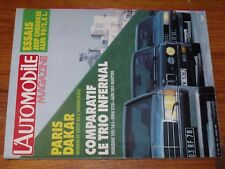 $$$ Revue L'automobile N°464 Paris Dakar  Jeep Cherokee  205 Peugeot Turbo 16