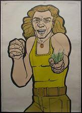 1974 ATS Quik Slip Human Figure Police Target Poster Broken Bottle Wild Maniac