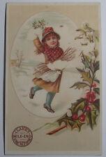 1880'S VICTORIAN TRADE CARD CLARKS MILE END 24 SPOOL COTTON DONALDSON BROS