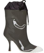 MIU MIU caltazure Donna Bronzo Bianco-brevetto Stivali in pelle-Taglia UK 6/EU 40