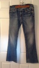 DISTRESSED Vtg AG Adriano Goldschmied The Angel Womens Jeans 27 R 5 Pockets Belt