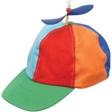 PROPELLER BEANIE HAT CAP MULTI-COLOR CLOWN COSTUME HAT BLUE YELLOW RED ORANGE
