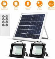 """Luces Solares 98 LED con Control Remoto al Aire Libre Impermeable IP65 Panel 13"""""""