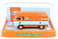 "Scalextric ""Gulf"" Volkswagen Panel Van T1b DPR W/ Lights 1/32 Slot Car C4060"