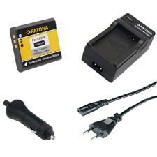 Batteria Patona + caricabatteria casa/auto per Olympus TG-620,TG-805,TG-810
