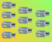 10 x Gabelkopf 4x8 M4 verzinkt - ohne Zubehör - Gabelgelenk Gabelköpfe