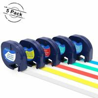 5PK 91331 91332 Compatible With Dymo LetraTag Plastic 1//2/'/' Label Tape Refills