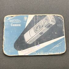 The Minox Owner's Instruction Manual Guide Book Miniature Little Camera inGerman