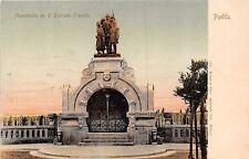 PUEBLA MEXICO MONUMENTO en el PANTEON FRANCES~LATAPI y BERT #191 POSTCARD 1900s