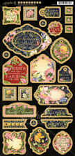 Graphic 45 Floral Shoppe Collection Die Cut Chipboard Tags 4501700