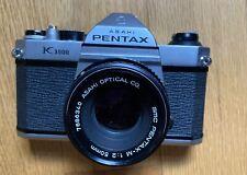 Pentax Asahi K1000, 50mm/F2, Vivitar 28-80, 80-200, Flash. Very Nice Condition