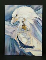 Inspirational Greeting Card Eagle Totem Peace at Last Jody Bergsma Leanin Tree