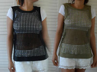 NEW WOMAN'S LADIES NEW 100% COTTON LIGHTWEIGHT SLEEVELESS TOP SMALL TO PLUS SIZE