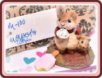❤️Wee Forest Folk M-100 Mousey's Cone Chocolate Chip Ice Cream Mouse Retired❤️