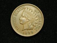 SEMI-ANNUAL SALE!! XF 1899 INDIAN HEAD CENT PENNY w/DIAMONDS & FULL LIBERTY #57c