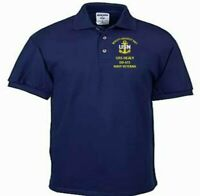 USS HEALY  DD-672  NAVY ANCHOR EMBROIDERED LIGHT WEIGHT POLO SHIRT
