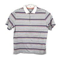Nike Golf Mens Striped Short Sleeve Polo Shirt Tour Performance Dri Fit Size XL