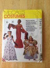 Costume sewing pattern McCall's 7345 Belles of the Ball girls gown fairy wings