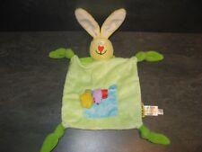 doudou lapin jaune vert taf toys