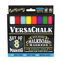 Chalkboard Chalk Markers by VersaChalk 8 Pack Non Toxic Wet Erase