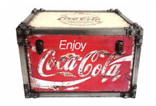1 Coca Cola Drinks Drink Metal Storage Chest Trunk Retro Vintage Large Tool Box