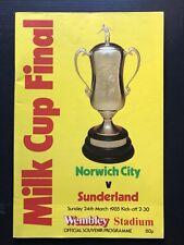 NORWICH CITY v SUNDERLAND League Cup Final 1985 (Milk Cup)