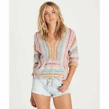 2017 NWT WOMENS BILLABONG SAND HOPPER PULLOVER HOODIE $65 M multi-color striped