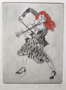 "Reblin, Maren (1943 Swinemünde, lebt in Panketal)  ""Furioso""  Kaltnadelradierung"