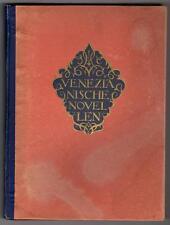 Venezianische Novellen by Franz V. Gaudy (Hugo Renyi Art)