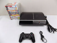 Ps3 Playstation 3 Console CECHL02 80 Gb Bundle + 15x Very Popular Games