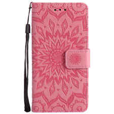3D Sun Flower Flip Leather Wallet Card Stand Phone Case Cover For LG G3 G4 G5 G6