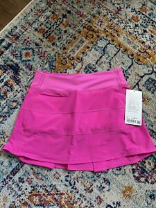 NWT Lululemon Pace Rival Skirt Pow Pink Tall Size 4!!
