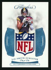 2018 Panini Flawless Shields Relic True 1/1 JuJu Smith-Schuster - Steelers