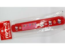 RARE 1994 Japan Hello Kitty Plastic Red Fork Spoon Chopsticks Cover NEW