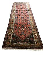 """Old Hand Knotted wool rug kh2401 3'9""""x10'"""