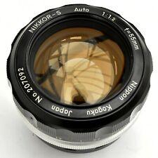 Vintage Kogaku Nikkor S Auto PRE-AI 55mm f/1.2 Manual Lens. Exc++++. See images.