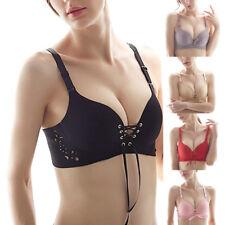 Women Girl Push Up Deep V Underwear Seamless Padded Plunge Lace Up Brassiere Bra