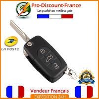 Clé Coque Pour Audi A2 A3 A4 A6 A8 TT S3 S4 3 Boutons Telecommande Lame CR2032