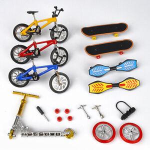Mini Finger Scooter Bike Fingerboard Skateboard Two Wheels Board Toys Kids Gift
