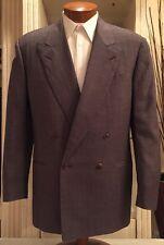 NEW Canali Mens DB Proposta Brown Silk Blend Blazer Sz 40 R