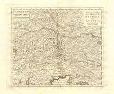 'Nuova Carta del Circolo di Baviera e di Austria by Isaak TIRION 1740 old map