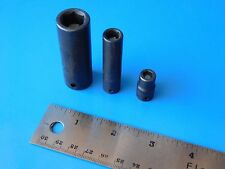 "USED,   SNAP ON  &  CORNWELL  MAGNETIC SOCKETS  "" LOT OF THREE""  SEE DESCRIPTION"
