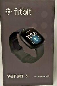 Fitbit Versa 3 Health & Fitness GPS Smartwatch Black Case / Black Infinity Band✅