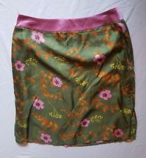 Elspeth Gibson London 100% Silk Skirt Floral Pattern