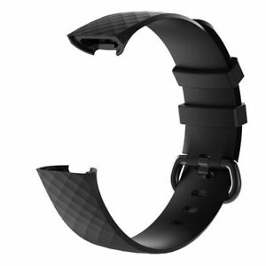 Luxury Silicone Band Strap Buckle For Fitbit Charge 3 4 Replacement Men's Women